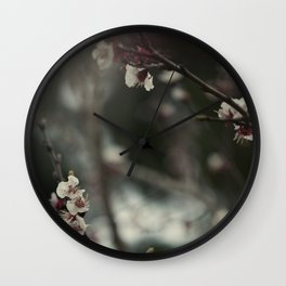 White Blooming Wall Clock