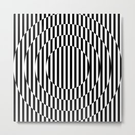 Stripes, going in circle! Metal Print
