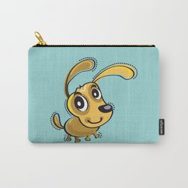 Happy Brown Dog Smilling Carry-All Pouch