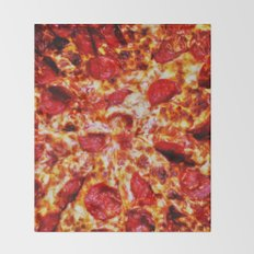 Pizza Painting Throw Blanket