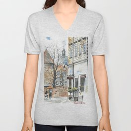 The Warsaw Barbican Poland Unisex V-Neck