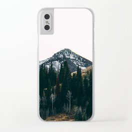 Winter On Its Way Clear iPhone Case