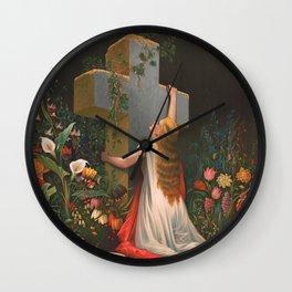 Simply to thy Cross I Cling, 1875 Wall Clock