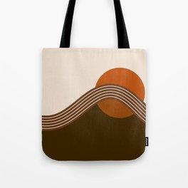 Cocoa Sundown Stripes Tote Bag