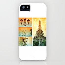 Drama of Paris Collage iPhone Case