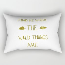 Wild Things - Gold Rectangular Pillow