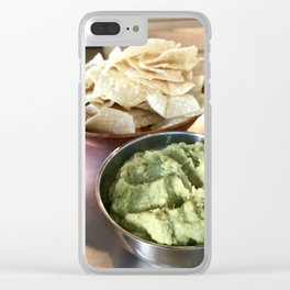 Guacamole Dippin' Clear iPhone Case