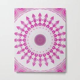 Amethyst & Hot Pink Gemstone Liquid White Smoke Kaleidoscope 5 Digital Painting Metal Print