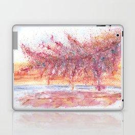 Pink Abstract Landscape Illustration Laptop & iPad Skin