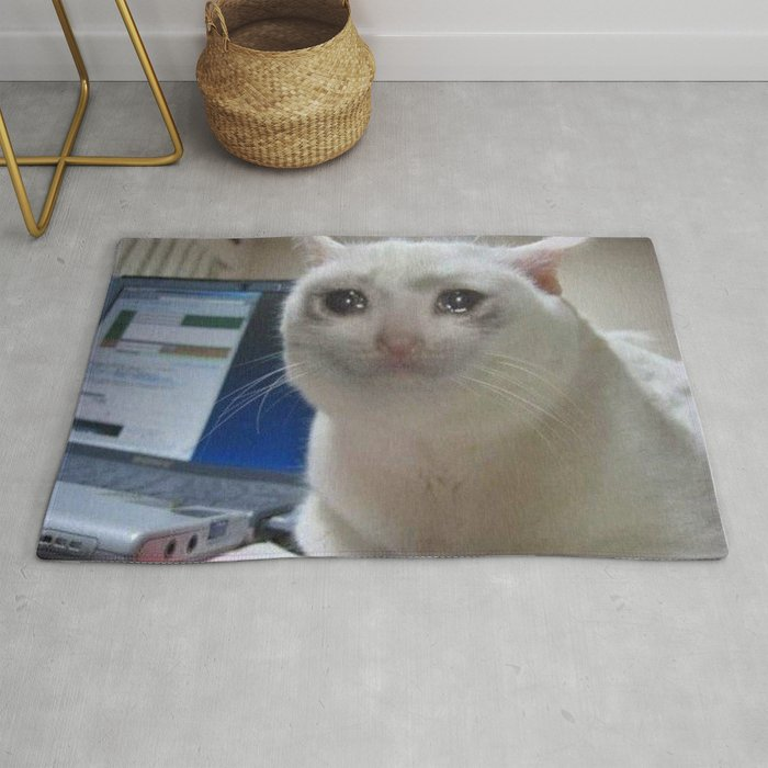 Crying Cat Meme Rug by greatphotos234   Society6
