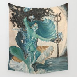 lord shiva and parvati Wall Tapestry