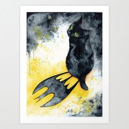 Bat Cat Art Print