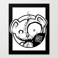 infamous Canvas Prints featuring Infamous Bear Logo by TobiasGebhardt