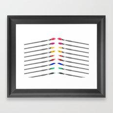 A Palette of Brushes Framed Art Print