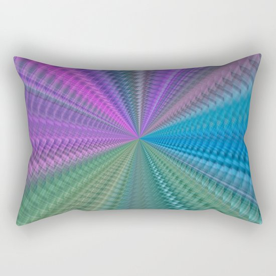 Psychedelic Twist Rectangular Pillow