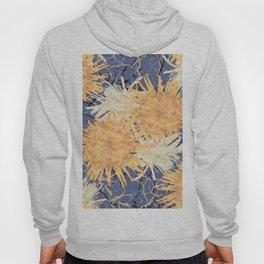 Abstract Orange Flowers Pattern Hoody