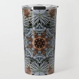 Spruce Cones And Needles Kaleidoscope K4 Travel Mug