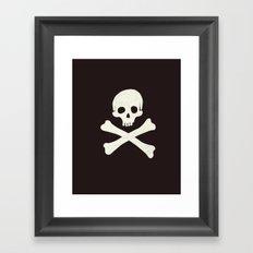 Skull & Crossbones Framed Art Print