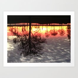 Grey Lake  Art Print