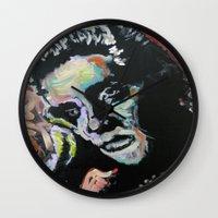 elvis Wall Clocks featuring Elvis by Matt Pecson
