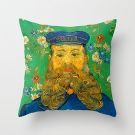 Vincent van Gogh - Portrait of Postman Throw Pillow