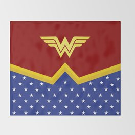 Wonder Of Woman - Superhero Throw Blanket