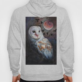 Owl Of The Blood Moon Heart Hoody