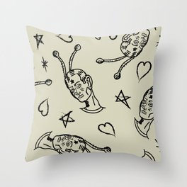 Cosmic boy pattern 2 Throw Pillow