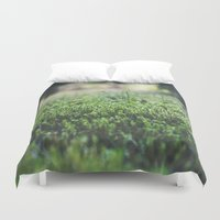 moss Duvet Covers featuring Moss by BV Imagery