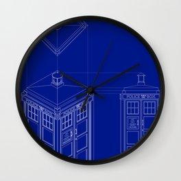 Tardis -Dark Wall Clock