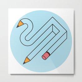 Pencil Metal Print