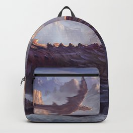 Phenomenal Armored Knights Riding Flying Dragons Ancient Kingdom Ultra HD Backpack