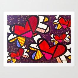 pop art love Art Print
