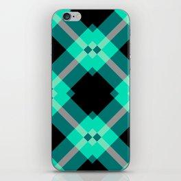 Xadrez Verde Agua iPhone Skin
