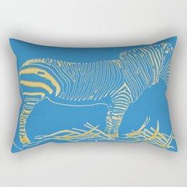 Stripped Zebra Rectangular Pillow