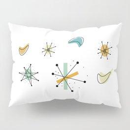 1950s Retro Atomic Pattern Pillow Sham