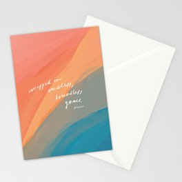 wrapped in endless, boundless grace Stationery Cards