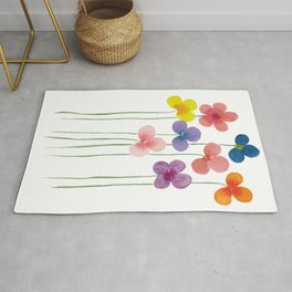 Colorful Bubble Flowers Rug