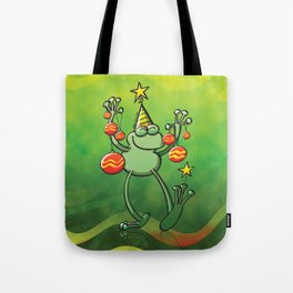 Christmas Decorations for a Frog Tote Bag