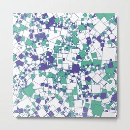 White Blue Green Metal Print