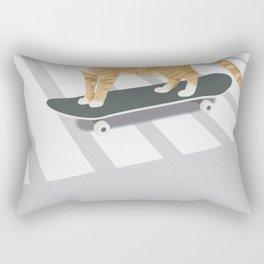 Skateboarding cat Rectangular Pillow