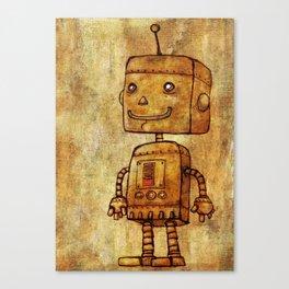 Optimistic Robot Canvas Print