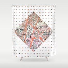 Flight of Color - diamond graphic Shower Curtain