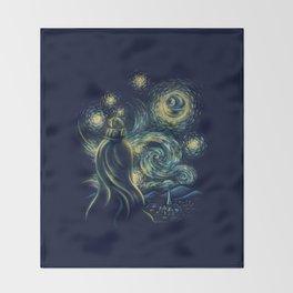 Death Starry Night Throw Blanket
