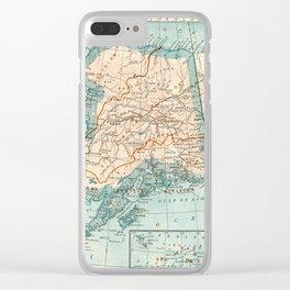Vintage Alaska Clear iPhone Case