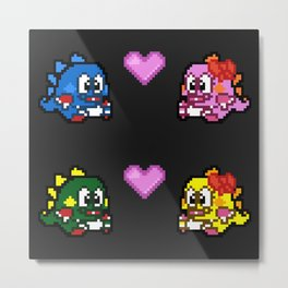 Retrogame Love Metal Print