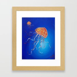 Jellyfish, Oil painting by Faye Framed Art Print