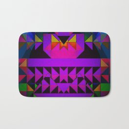 Aztec Multi Colored Triangle Abstract Bath Mat