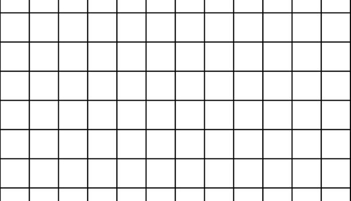 Grid Simple Line White Minimalist Pillow Sham