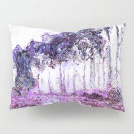 Monet Poplars on the Banks of the River Epte Magenta Violet Pillow Sham
